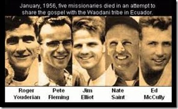 theologyforgirls.om pic of five slain missionaries